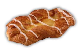 Wienerbröd vanilj– Innehållsförteckning; Vetemjöl,veg.olja och fett,vatten, fondatpulver,ägg,mjölk,socker,jäst,vispgrädde, äggula,salt, majsstärkelse,vetegluten,vanilj,emulg.medel, (E471,E475),arom, surhetsreg.medel(citronsyra)