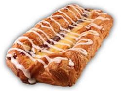 Wienerlängd– Innehållsförteckning;Vetemjöl,veg.olja och fett, vatten,ägg, socker,jäst,mjölk,fondatpulver,hallon,salt vispgrädde,äggula,vetegluten,majsstärkelse vanilj,emulg.medel(E471,E475), surhetsreg,medel (citronsyra),arom förtjockningsmedel (pektin),kons.medel (E202),mandel