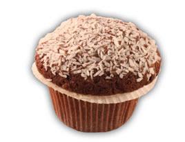 Muffins choklad– Innehållsförteckning; Socker,vetemjöl,rapsolja,vatten, florsocker,margarin(veg.olja och fett, vatten,salt,emulg.medel(E475,E471, E322(soja)),surhetsreg.medel(E330), vitamin a och d arom),äggpulver, kakaopulver,sirap,kokos,pot.stärkelse aromämnen,bakpulver(E450, E500),druvsocker,arom,salt,färgämne (160a),modifierad stärkelse.