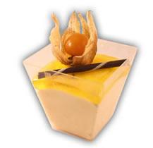 Mousse i glas passion– Innehållsförteckning;Passionsfruktpure, socker, ÄGGVITA, vatten, gelatin (gris), druvsocker, glukossirap, geleringsmedel E440, konserveringsmedel E202, konserveringsmedel E211, laktasenzym, laktosfri GRÄDDE, stabiliseringsmedel (karragenan), stabiliseringsmedel E412, surhetsreglerande medel E330, surhetsreglerande medel E331.