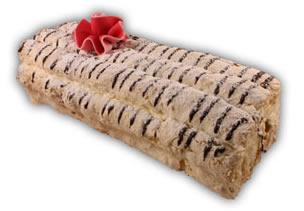Budapestlängd– Innehållsförteckning; Socker, GRÄDDE, ÄGGVITA, HASSELNÖTTER, mandarinklyftor, banan, vatten, potatisstärkelse, modifierad VETESTÄRKELSE, ÄGGVITEPULVER, vegetabiliskt fett (palm) & fullhärdat vegetabiliskt fett (palm), kakaopulver, MANDEL, glukossirap, sorbitol, emulgeringsmedel SOJALECITIN, förtjockningsmedel E412, sirap, arom, färgämne (E101,E133,E141,E160a,E161b), förtjockningsmedel E406, invertas, konserveringsmedel (E202, E211), skumbildande medel (trietylcitrat), skumdämpningsmedel E471, stabiliseringsmedel (E407), stabiliseringsmedel E412, stabiliseringsmedel E418, surhetsreglerande medel (E270,E330,E331,E500), vanillin.